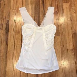 Zara white delicate top Small